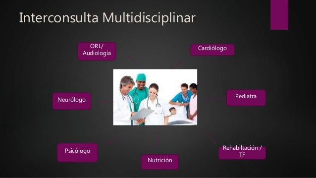 Interconsulta Multidisciplinar Nutrición Pediatra Neurólogo Cardiólogo Psicólogo ORL/ Audiología Rehabiltación / TF