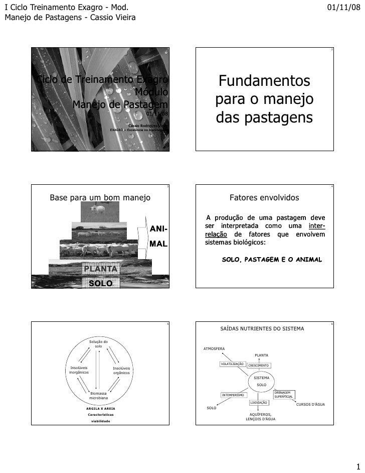 I Ciclo Treinamento Exagro - Mod.                                                                                         ...