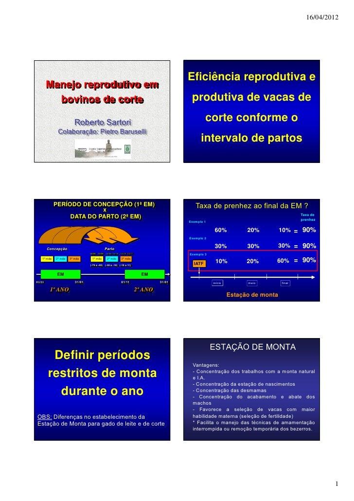 16/04/2012                                                                                       Eficiência reprodutiva e ...