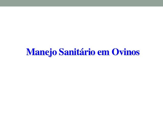Manejo Sanitário em Ovinos