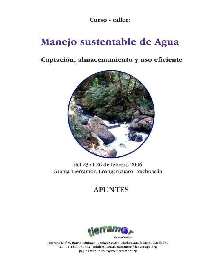 Manejo sustentable de agua en zonas áridas                                                                                ...
