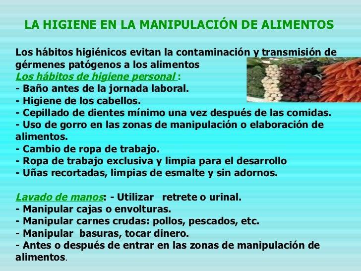 Manejo y manipulaci n de alimentos - Carne manipulacion de alimentos ...