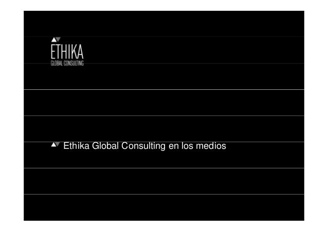 Ethika Global Consulting en los medios