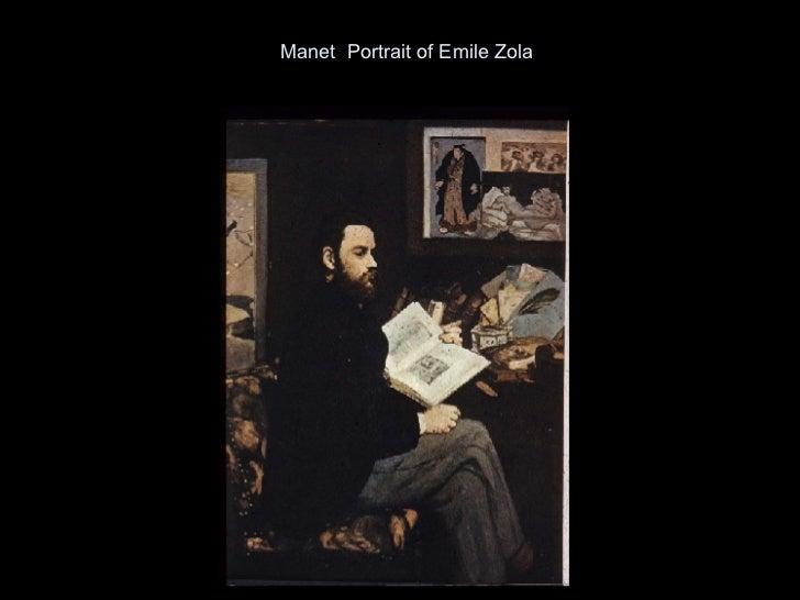 Manet  Portrait of Emile Zola