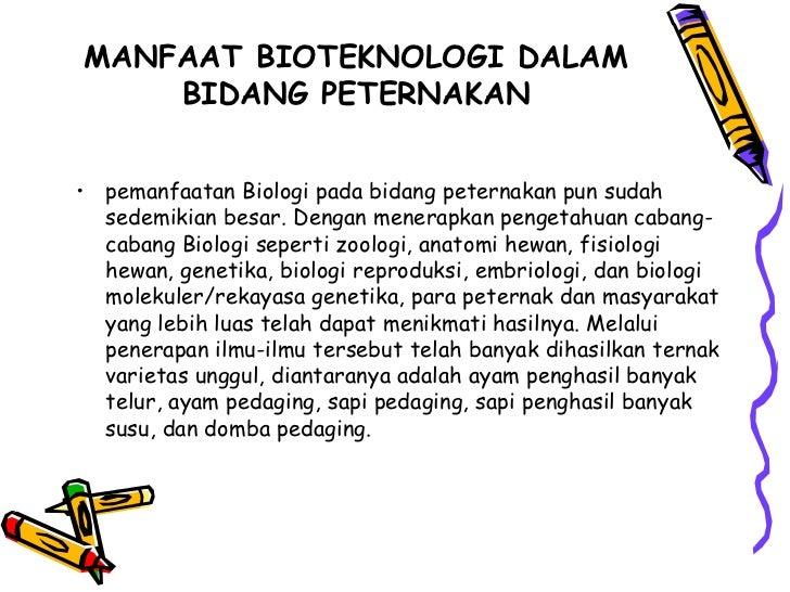 Sebutkan Manfaat Bioteknologi Di Bidang Pertanian Peternakan Dan Kedokteran Sebutkan Itu