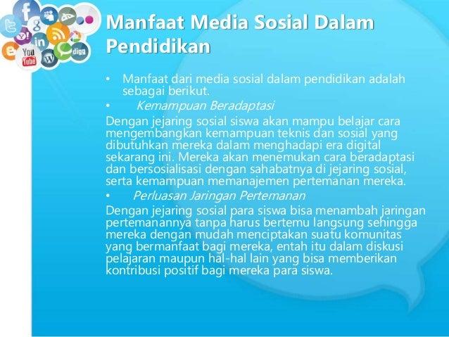 Manfaat Media Sosial Dalam Dunia Pendidikan