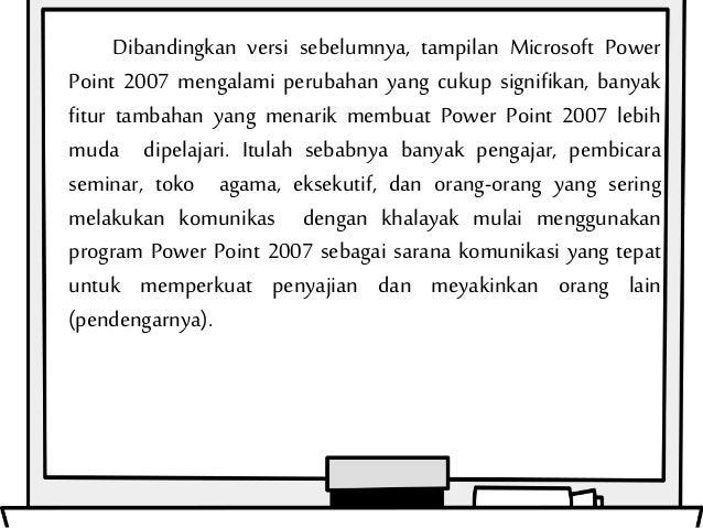 apa saja kegunaan fitur fitur dalam microsoft power point