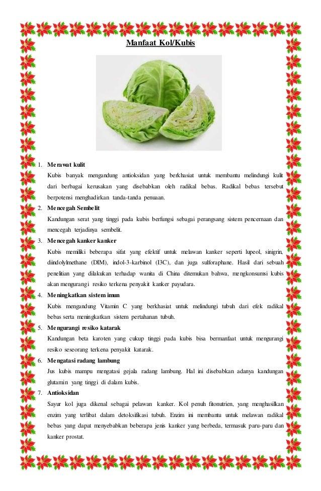 Manfaat-manfaat yang Ada Pada Sayur Kol