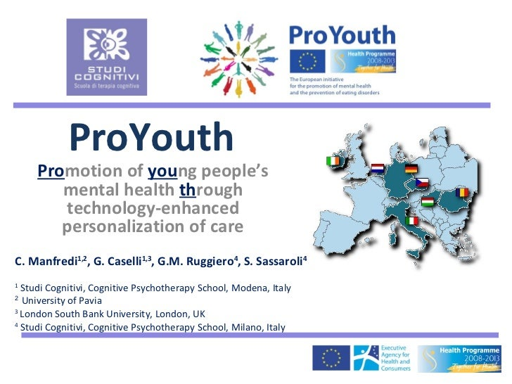 ProYouth     Promotion of young people's        mental health through        technology-enhanced        personalization of...