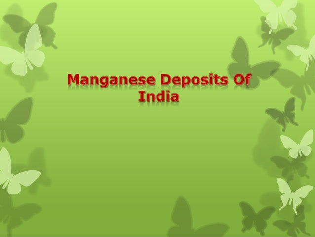 highest manganese producing state in india