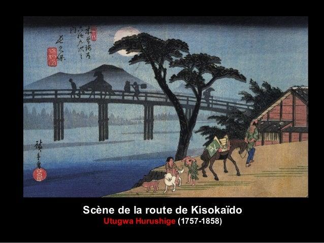 Scène de la route de Kisokaïdo Utugwa Hurushige (1757-1858)