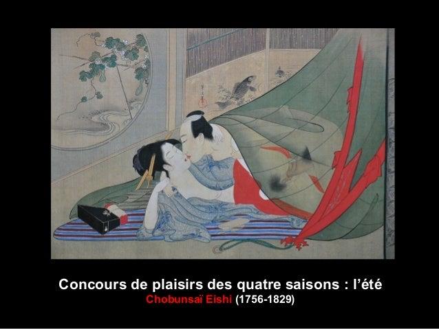 Concours de plaisirs des quatre saisons : l'été Chobunsaï Eishi (1756-1829)