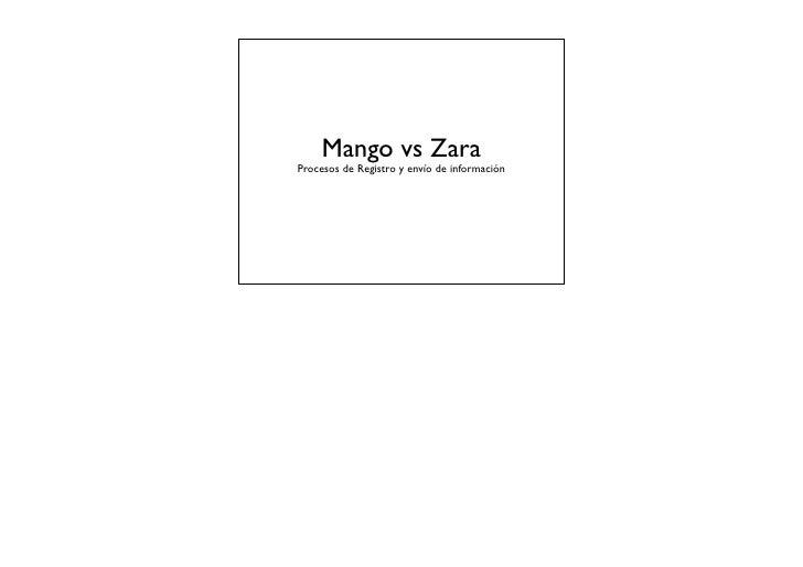 Mango vs ZaraProcesos de Registro y envío de información