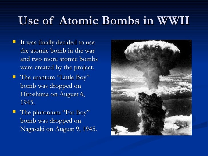 An analysis of the decision to use the atomic bomb