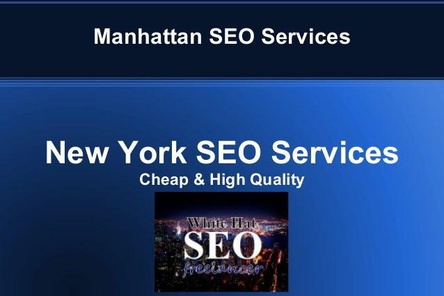 Manhattan SEO Services New York SEO Services Cheap & High Quality