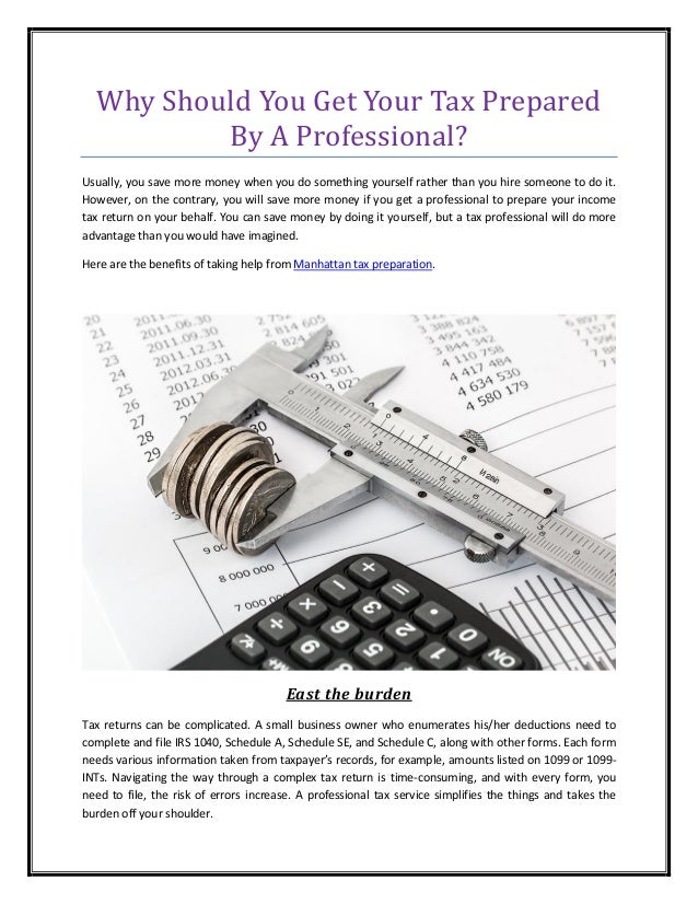 Why should you get your tax prepared by a professional solutioingenieria Images