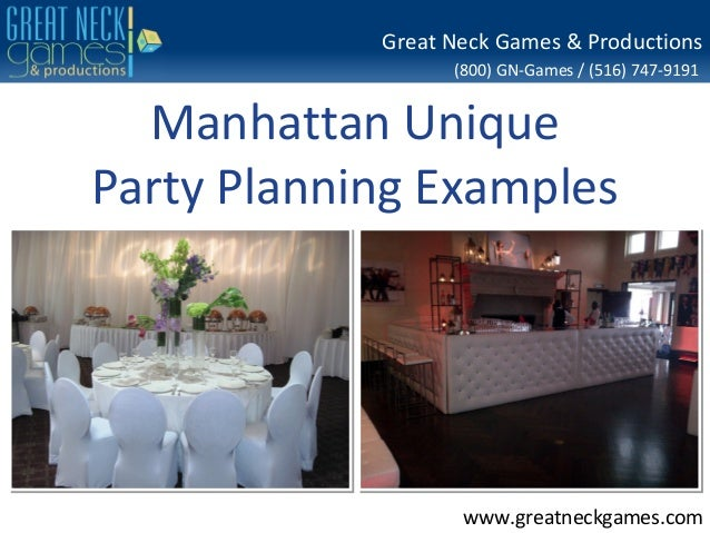Great Neck Games & Productions (800) GN-Games / (516) 747-9191  Manhattan Unique Party Planning Examples  www.greatneckgam...
