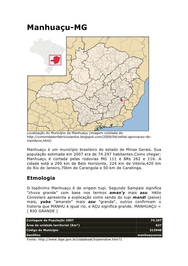 Manhuaçu-MG     Localização do Município de Manhuaçu (imagem coletada de: http://comendadorfabriciosantos.blogspot.com/200...