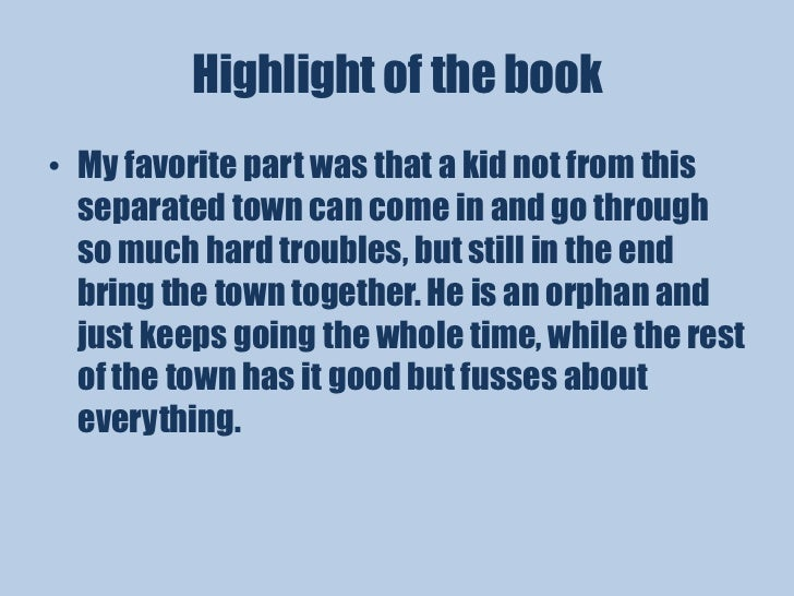 book report maniac magee Buy a cheap copy of maniac magee book by jerry spinelli maniac magee is a folk story about a boy, a very excitable boy one that can outrun dogs, hit a home run off the best pitcher in the neighborhood, tie a knot no one.