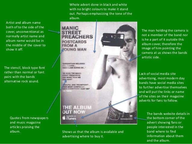 Manic street preachers magazine advert analysis