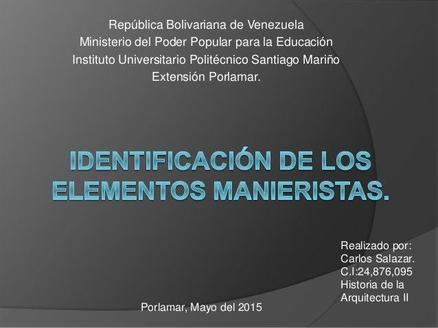 República Bolivariana de Venezuela Ministerio del Poder Popular para la Educación Instituto Universitario Politécnico Sant...