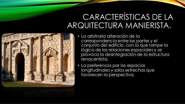 Arquitectura Del Manierismo