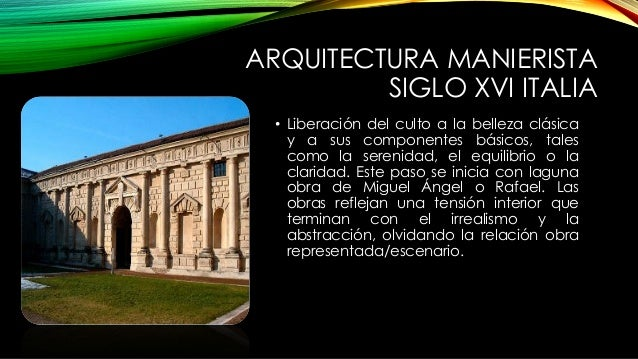 Arquitectura del manierismo - Arquitectura miguel angel ...