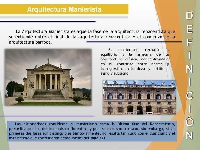 Arquitectura Manierista Historia2