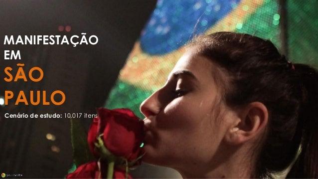 MANIFESTAÇÃO EM SÃO PAULO Cenário de estudo: 10.017 itens