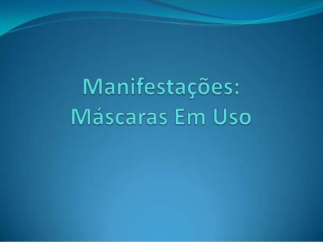 Uso de máscaras em manifestações públicas  Talvez seja no Estado do Rio de Janeiro que os protestos desencadeados com as ...