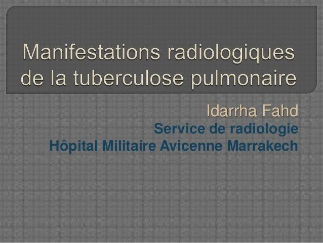 Idarrha Fahd Service de radiologie Hôpital Militaire Avicenne Marrakech