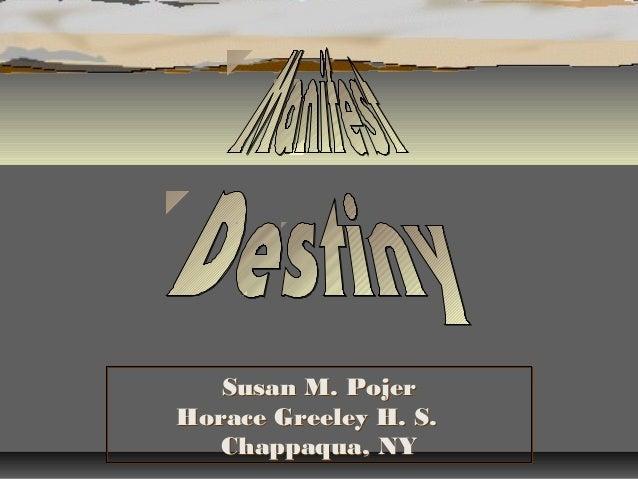 Susan M. Pojer Horace Greeley H. S. Chappaqua, NY Susan M. Pojer Horace Greeley H. S. Chappaqua, NY