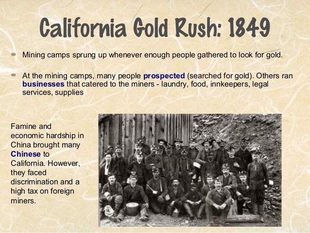 an overview of the california gold rush of 1849 Historical analysis of economy in california gold rush california gold rush through the lens of economy skip to navigation in 1849, miners were able to average.