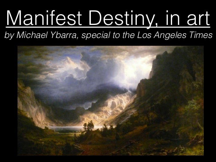Manifest Destiny, in artby Michael Ybarra, special to the Los Angeles Times