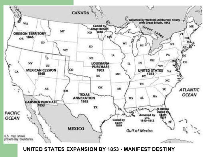 Manifest Destiny Jeff Jack Asy Review - Us manifest destiny map