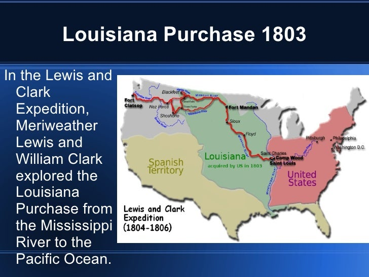 a report on the louisiana purchase Objective: to examine the causes and effects of the louisiana purchase key terms and people: toussaint l'ouverture haitian revolution louisiana purchase nap.