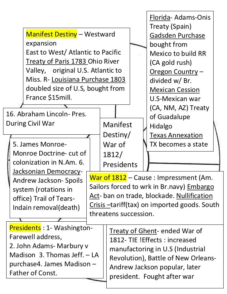 Florida- Adams-Onis Treaty (Spain)Gadsden Purchase bought from Mexico to build RR (CA gold rush)Oregon Country – divided w...