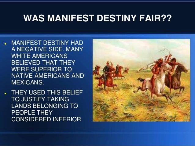 manifest destiny justification