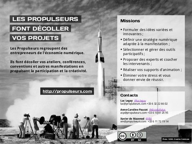 LES PROPULSEURS                                Missions FONT DÉCOLLER                                  • Formuler des idée...