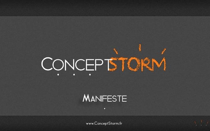MANIFESTEwww.ConceptStorm.fr