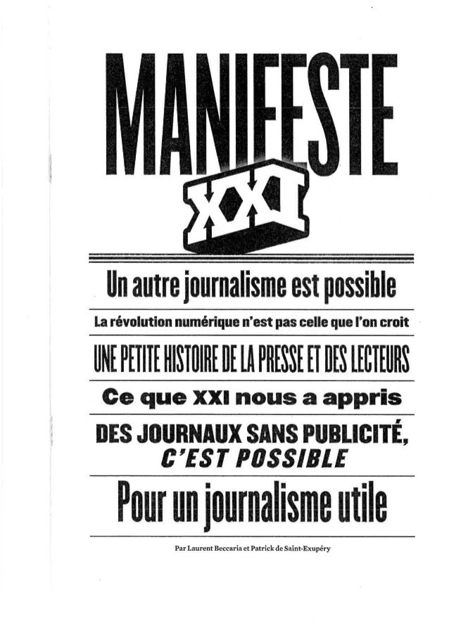 Manifeste XXI