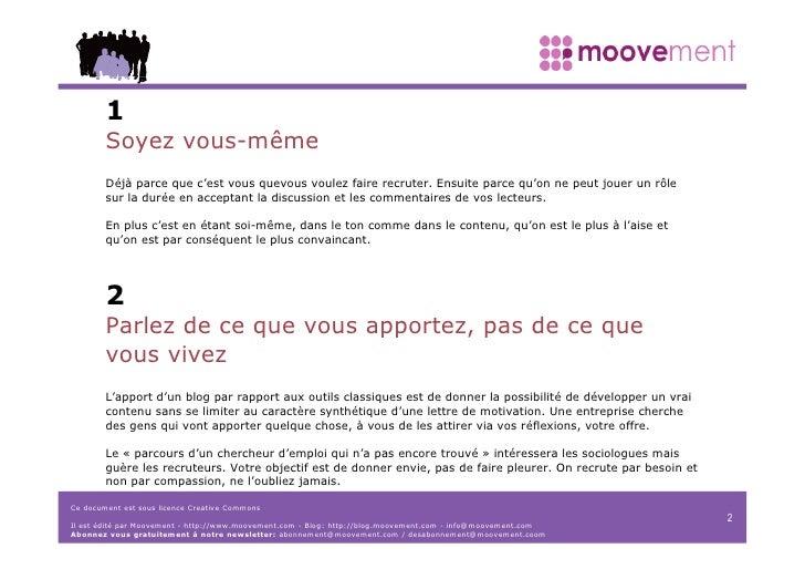 Manifesto Moovement Créez votre blog (2006) Slide 2