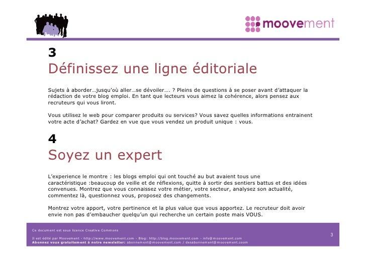 Manifesto Moovement Créez votre blog (2006) Slide 3