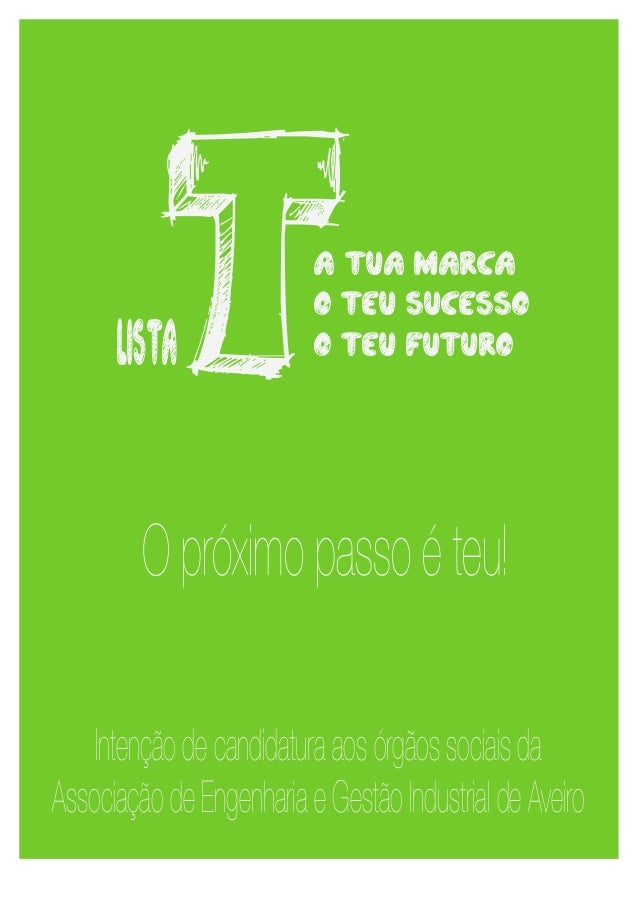 listaT              a tua marca                          o teu sucesso                          o teu futuro         O pró...