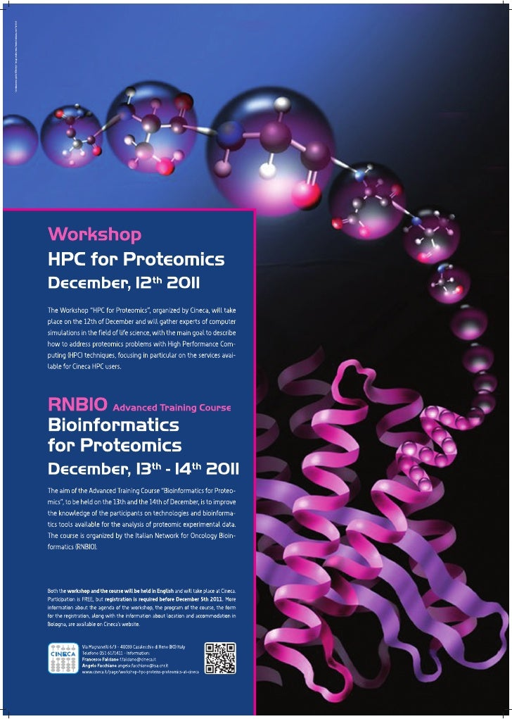 Workshop HPC 4Proteomics and course Bioinformatics for Proteomics
