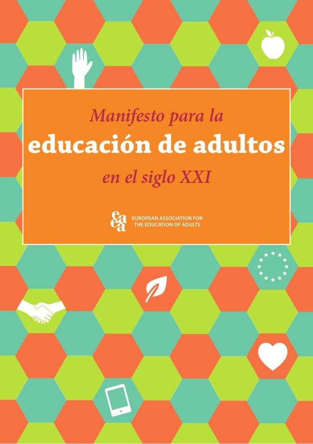 Manifesto para la educación de adultos en el siglo XXI