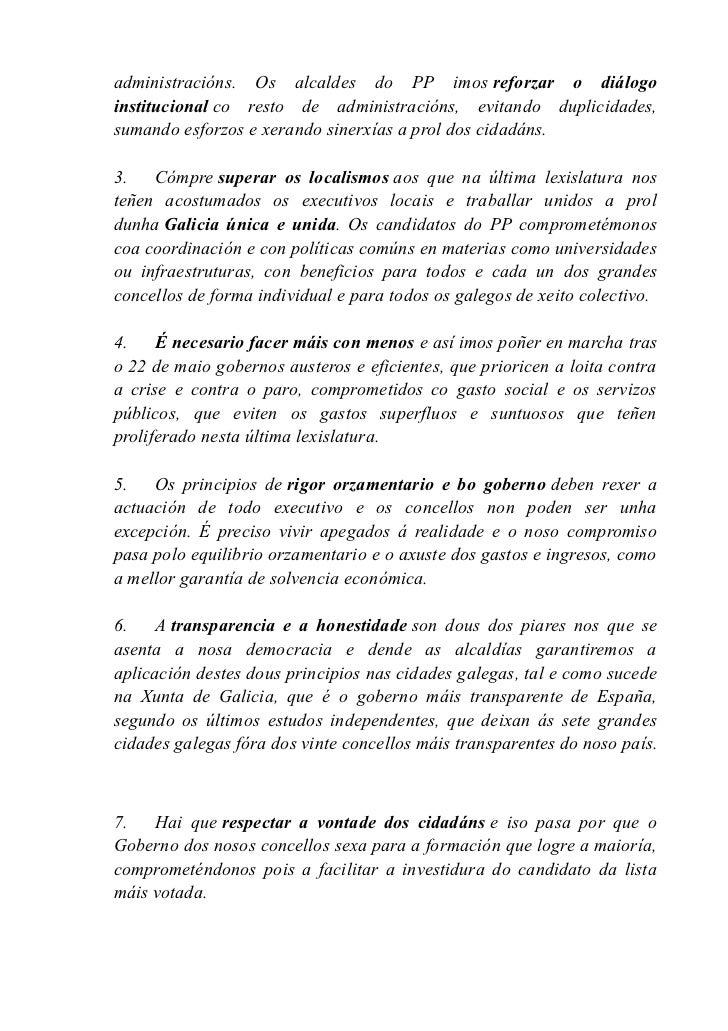 Manifesto pola Cooperacion do Partido Popular Slide 2