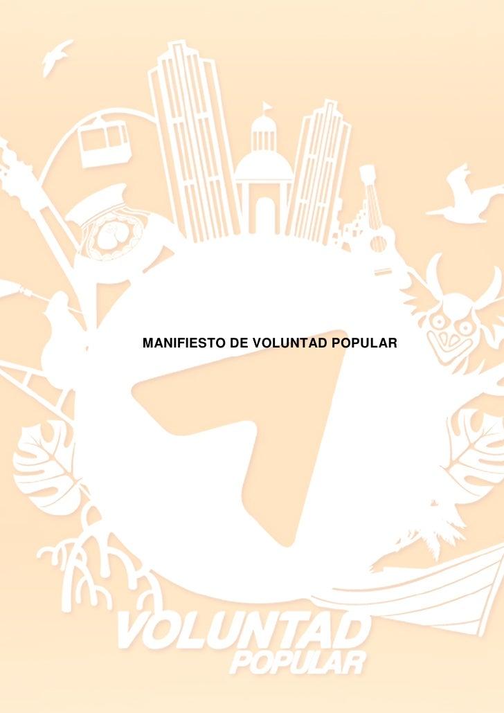 Manifiesto de Voluntad Popular