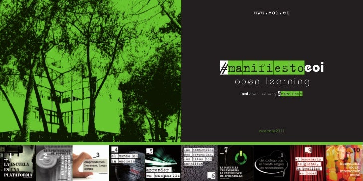 www.eoi.es#manifiestoeoi open learning  eoi o p e n   learning   #manifest                diciembre 2011