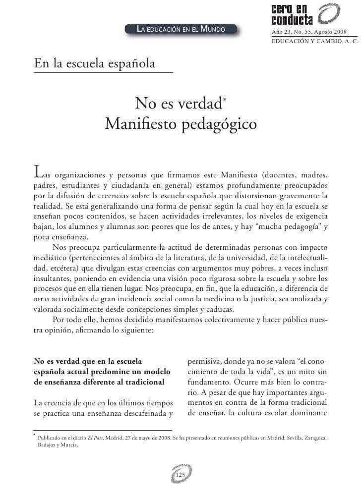 La educación en el Mundo                                    Año 23, No. 55, Agosto 2008                                   ...